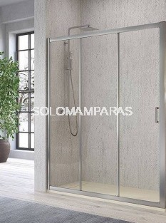 Frontal ducha mampara -Kassandra- Diana (DI101) 1 fija + 2 correderas, 5 mm