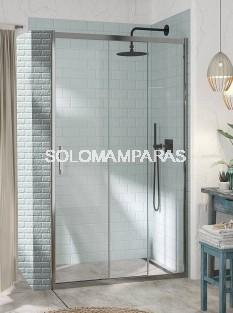 Mampara de ducha - Kassandra- Kaarol (1 fija + 2 correderas) 6 mm (antical Easy Clean)