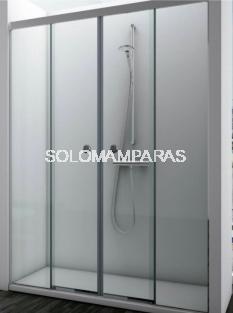 Mampara de ducha Sismeta  (2 fijas + 2 correderas) 6 mm