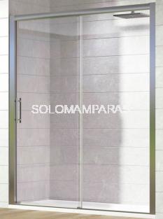 Mampara de ducha Tirso (1 fija + 1 corredera) 6 mm
