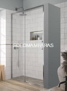 Mampara de ducha - Kassandra- Yoko (YK607 + YK602) (1 fija + 1 corredera) 6 mm (Antical Easy Clean)
