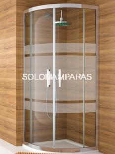 Mampara -Kassandra- semicircular Serie 300 (TR130+TR131) Serigrafia Bali (Antical Easy Clean)