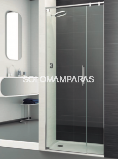 Mampara de ducha Polary -Deyban- (1 puerta abatible + 1 fijo)  8 mm (antical)