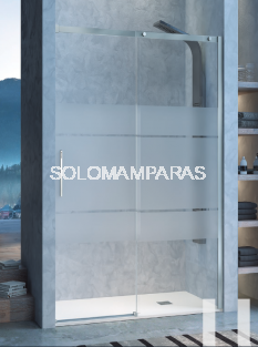 Mampara de ducha Kassandra Luna 8mm (LU102+LU103) 1 fija + 1 corredera con Lateral fijo Opcional
