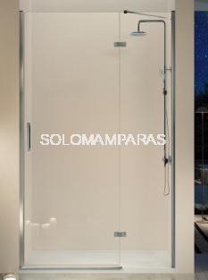Mampara de ducha Kassandra Nardi (NA403) Transparente (Antical Easy Clean) (fijo+abatible+perfil de cierre)