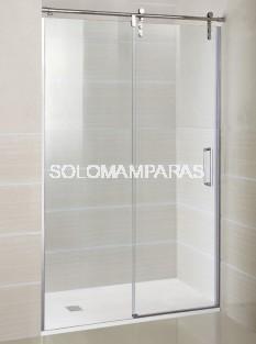 Mampara de ducha Moving -GME- (1 fija + 1 corredera) acero inox