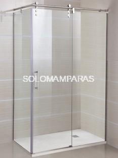 Mampara de ducha -GME- Moving (1 fija + 1 corredera) + lateral fijo