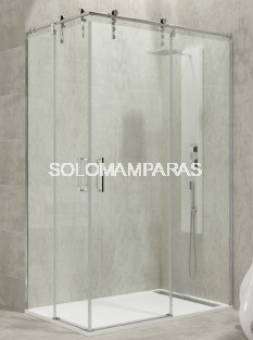 Mampara de ducha Moving -GME- (Angular 2 fijas + 2 correderas)