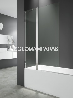 Hoja de bañera Open 2 -GME- (fija + abatible) transparente 122 cm