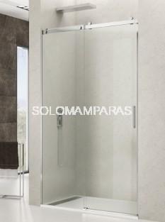 Mampara de ducha Rotary -GME- (1 fija + 1 corredera) antical y acero inox