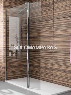 Mampara de ducha -Kassandra- serie 300 (TR524) cristal fijo + hoja abatible (Antical Easy Clean)