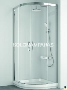 Mampara -Kassandra- semicircular Serie 400 (CU130+CU131) Transparente (Antical Easy Clean)