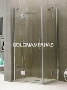 Angular de ducha Yaravi -Hidroglass- (2 fijas + 2 abatibles) 6 mm