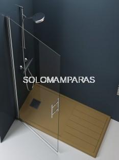 Mampara de ducha Milán (Puerta abatible abatible sin cierre) antical incluido