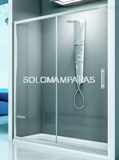 Mampara de ducha Esla de Hidroglass (1 fija + 1 corredera) 6 mm