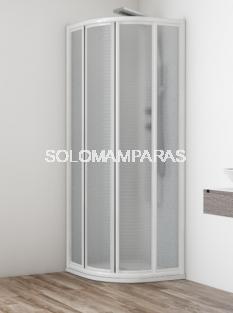 Semicircular ducha mampara Orinoco (acrílico), 2 fijas + 2 correderas
