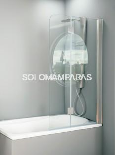 Mampara de bañera Greta - Hidroglass- 1 fijo + 1 abatible 6 mm + brazo sujeción a 45º
