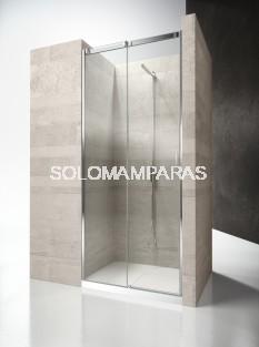Frontal ducha mampara Serie 8000 CN - Vismara - 1 fija +1 corredera, 8mm