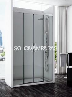 Mampara de ducha Támesis (2 fijas + 2 correderas) 6 mm
