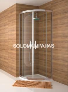 Mampara -Kassandra- semicircular Serie 300 (TR130+TR131) Transparente (Antical Easy Clean)