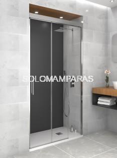 Mampara de ducha Trio -GME- (1 fija + 2 correderas)
