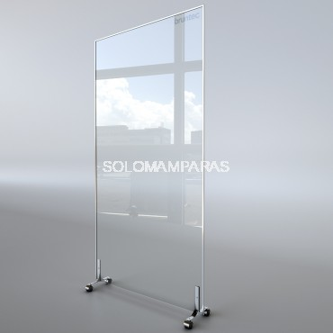 Panel protector Movil vidrio 6mm con Ruedas Protek 1800