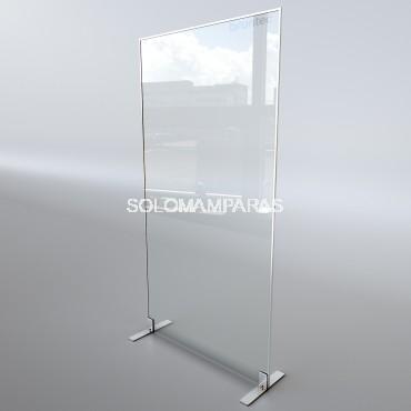 Mampara separadora Fija vidrio 6mm Protek 1900