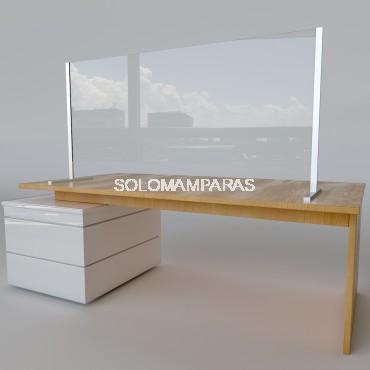 Mampara protectora vidrio 6mm frontal elevado Protek 2600