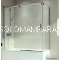 Frontal bañera mampara Aura Elegance, 1 fija + 1 corredera, ¡TRATAMIENTO ANTICAL GRATIS! -Huppe-