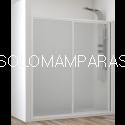 Frontal de ducha Mampara Cares, 1 fija + 1 corredera (acrílico)