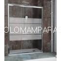 Frontal ducha - Kassandra- City (CT101) 3 hojas correderas, serigrafia Clio (antical Easy Clean)