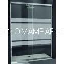 Mampara Kassandra 300, TR102 Bali con Antical Easy Clean (1 fija + 1 corredera)