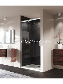 Frontal ducha mampara Aura Elegance, 1 fija + 1 corredera, ¡TRATAMIENTO ANTICAL GRATIS! - Huppe-