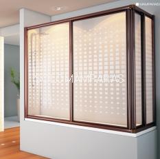 Mampara angular de bañera Siam -Hidroglass- (2 fijas + 2 correderas) vidrio 4 mm