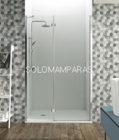 Mampara de ducha Glass -GME- 1 fijo + 1 puerta abatible con cierre perfil imán