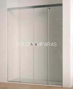 Mampara de ducha Sismeta -Hidroglass- (2 fijas + 2 correderas) 6 mm