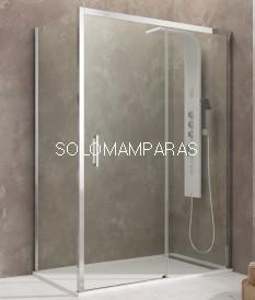 Mampara de ducha GME- Aktual (1 fija + 1 corredera) + lateral fijo