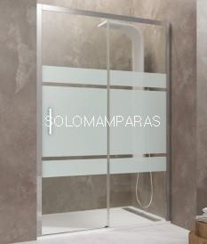 Mampara de ducha -GME-  Aktual serigrafía Frost Plus (Antical),  (1 fija + 1 corredera)