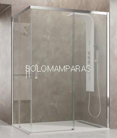 Mampara de ducha -GME- Aktual, (Angular 2 fijas + 2 correderas)