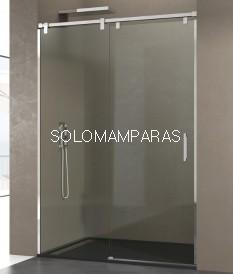Frontal ducha -GME- mampara Futura acero inox, (1 fija + 1 corredera)