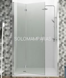Frontal de ducha Glass plegable Combi 2 de GME con cierre perfil imantado