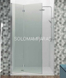 Frontal de ducha Glass plegable Combi 1 de GME, con cierre de imán a pared