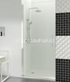 Mampara de ducha GME, Open 1 puerta abatible con cierre imán a pared (COMBI A)