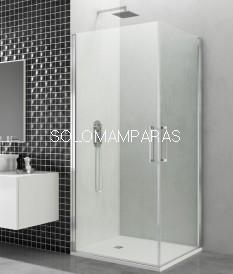 Mampara  de ducha GME, Open, 2 puertas abatibles (COMBI K)