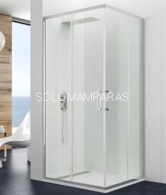 Mampara de ducha angular Titan Prestige -GME- 2 fijas + 2 correderas (antical)