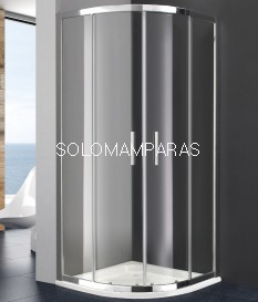 Mampara de ducha semicircular Titan Prestige de GME con 2 fijas + 2 correderas (antical)