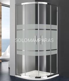 Mampara de ducha semicircular Titan Prestige -GME- con serigrafía Frost Plus (antical)