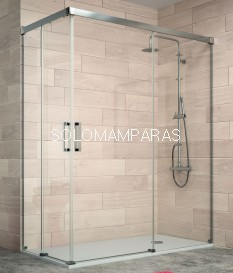 Angular de ducha Mampara Sugar de Kassandra, 2 fijas+ 2 correderas (SU105)