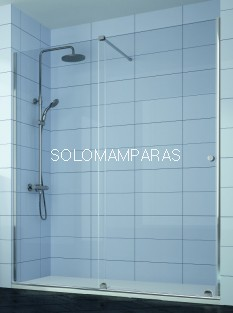 Mampara de ducha Volare -Kassandra- (VO102), 1 fija + 1 corredera (con Lateral fijo Opcional)