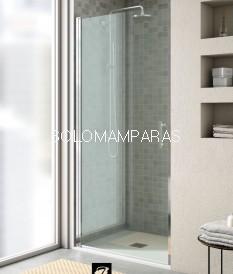 Mampara de ducha Milán (1 puerta abatible entre paredes)